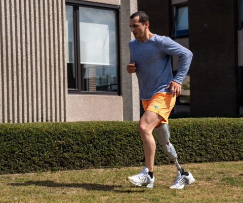 First Amputee running with IntelLeg Knee
